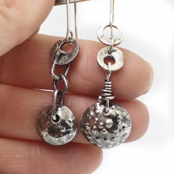 Asymetrical Dangle Earrings by Susan Wachler Jewelry
