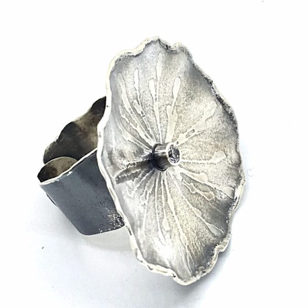 Botanical Dandelion Embossed Ring by Susan Wachler Jewelry