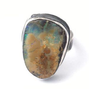 Boulder Opal Ring by Susan Wachler Jewelry