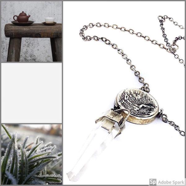 Double Landscape Quartz Necklace by Susan Wachler Jewelry