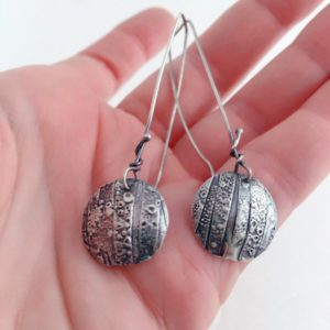 Fused Sculptural Dangle Organic Earrings by Susan Wachler Jewelry