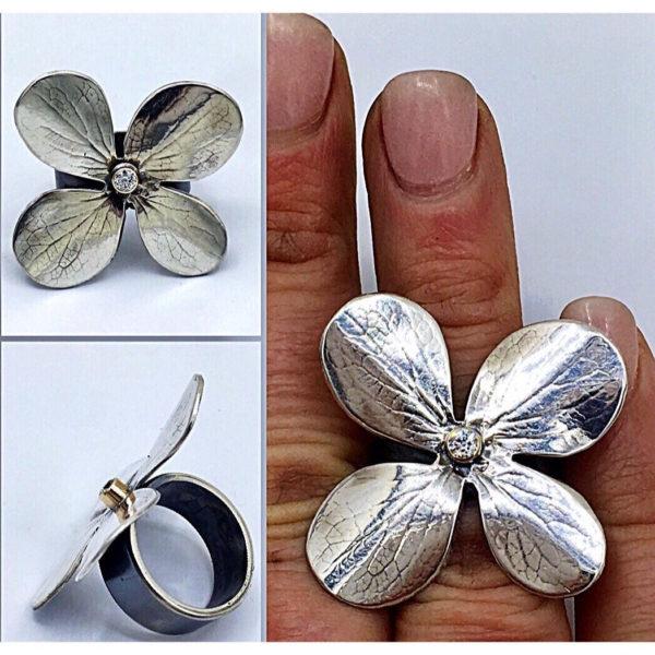 Hydrangea Leaf Ring by Susan Wachler Jewelry
