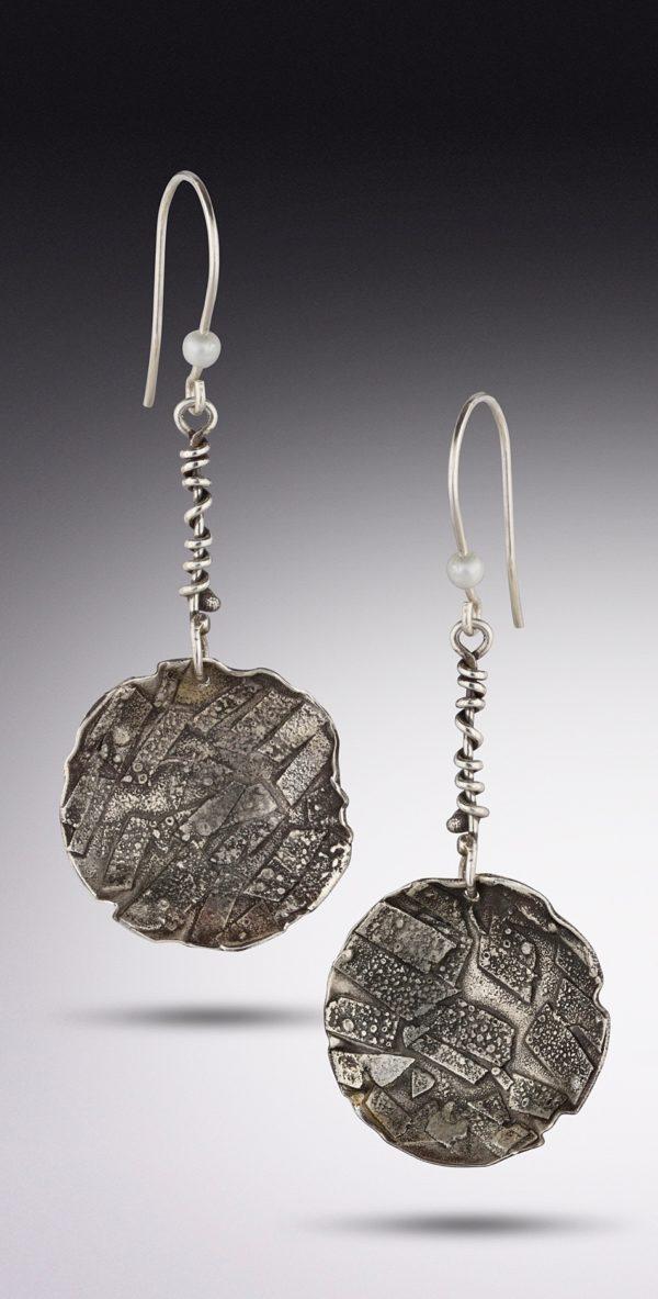 Urban Rustic Pearl Earrings by Susan Wachler Jewelry