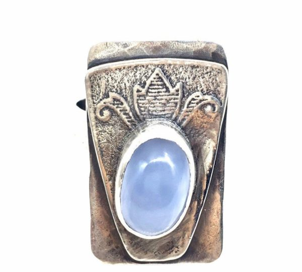 Lavender Chalcedony Statement Ring by Susan Wachler Jewelry