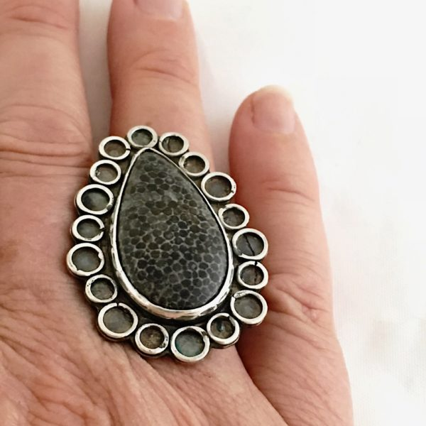 Millions of Years Young Fossilized Coral Ring by Susan Wachler Jewelry