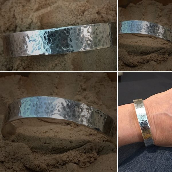 Oval Hammered Bangle by Susan Wachler Jewelry