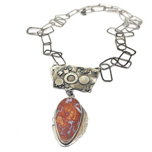 Plume Agate Statement Necklace by Susan Wachler Jewelry