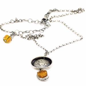 Raw Imperial Topaz Pendant by Susan Wachler Jewelry