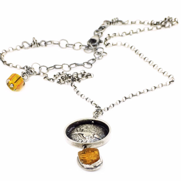 Raw Imperial Topaz Pendant by Susan Wachler Jewelry