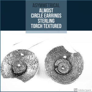 Rustic Circle Drop Earrings by Susan Wachler Jewelry