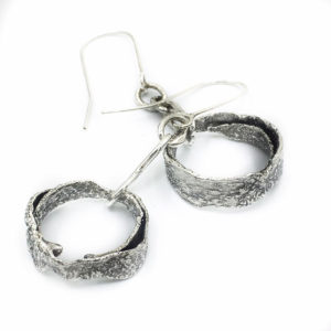 Rustic Spiral Hoop Earrings by Susan Wachler Jewelry