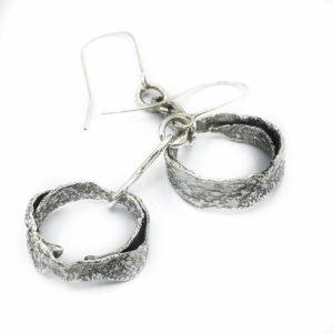 Rustic Spiral Hoop Earrings by Susan Wachler Jewelry