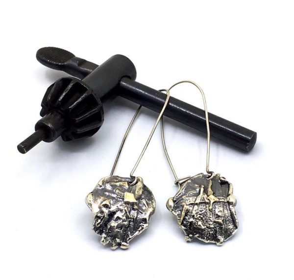 Sterling Mixed Metal Earrings by Susan Wachler Jewelry