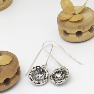 Textured Buttercup Dangles by Susan Wachler Jewelry