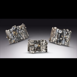 Wide Mixed Metal Ring by Susan Wachler Jewelry