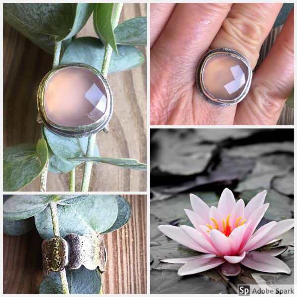 Pink Chalcedony Ring by Susan Wachler Jewelry