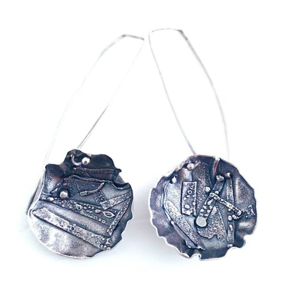 Applique Circle Earrings by Susan Wachler Jewelry