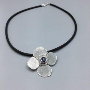 Hydrangea Sapphire Necklace by Susan Wachler Jewelry