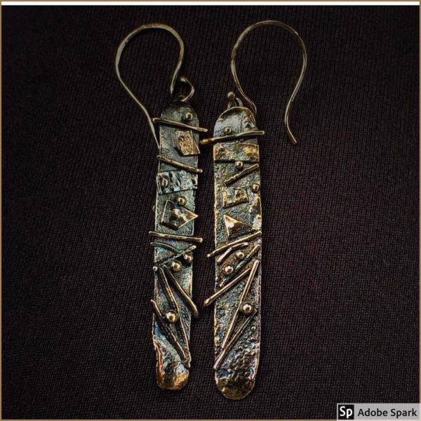 Mixed Metal Dangle Earrings by Susan Wachler Jewelry