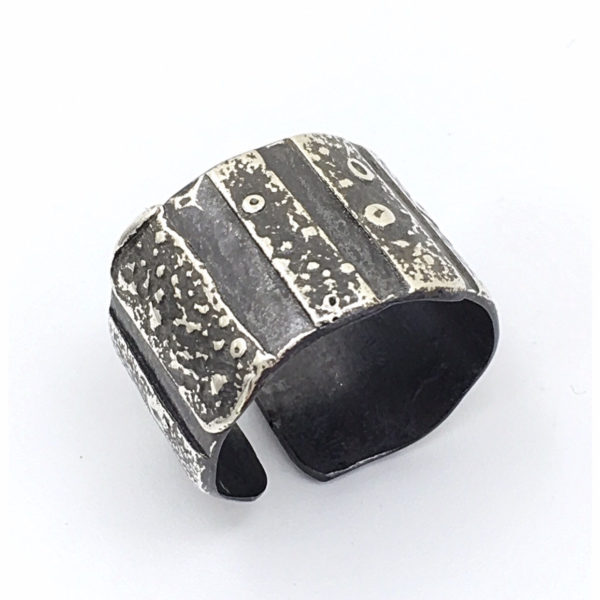 Oxidized Wide Band Ring by Susan Wachler Jewelry