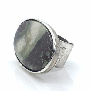 Prehnite Statement Ring by Susan Wachler Jewelry