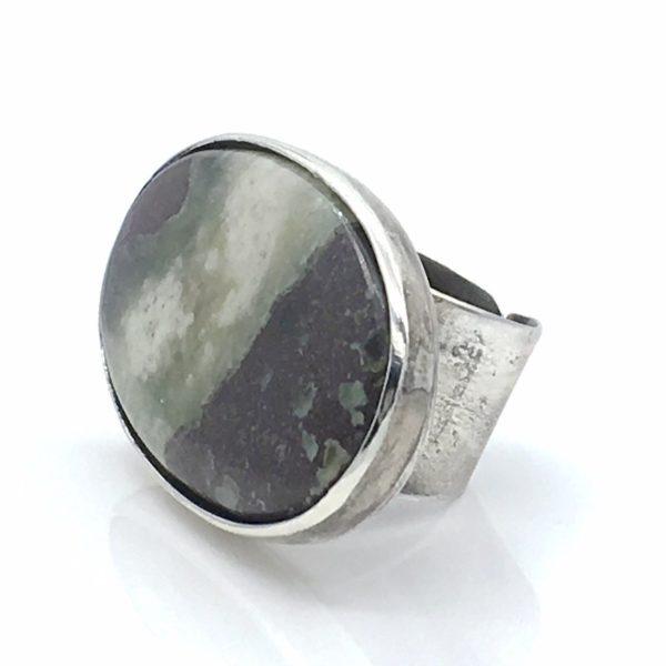 Prehnite Statement Ring by Susan Wachler Jewelry