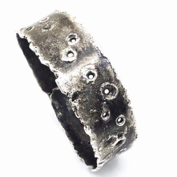 Oxidized Sterling Silver Cuff Bracelet by Susan Wachler Jewelry