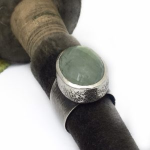 Prehenite Light Green Ring by Susan Wachler Jewelry