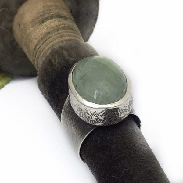 Prehenite Light Green Ring by Susan Wachler Jewelry