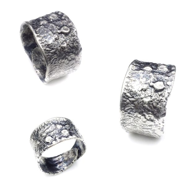 Euro Textures Modern Sterling Silver Ring by Susan Wachler Jewelry