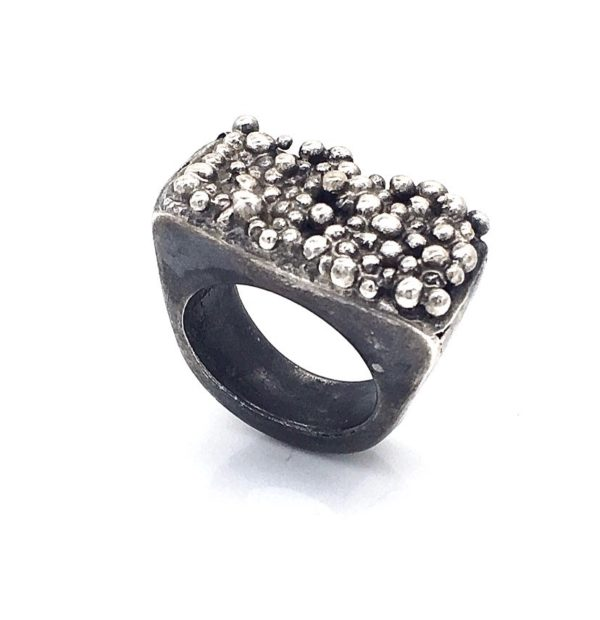 Pebbled Shore Sterling Silver contemporary Ring by Susan Wachler Jewelry