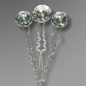 Wildflower Sterling Silver Hairpins by Susan Wachler Jewelry