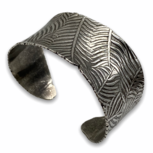 Botanical Sterling Silver Cuff by Susan Wachler Jewelry