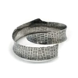 Sterling Silver Forged Wrap Metal Cuff by Susan Wachler Jewelry