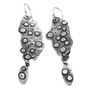 Cellular Division Science earrings in Sterling Silver by Susan Wachler Jewelry