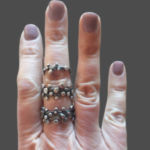 Cobblestones Fused Sterling Silver Ring by Susan Wachler Jewelry