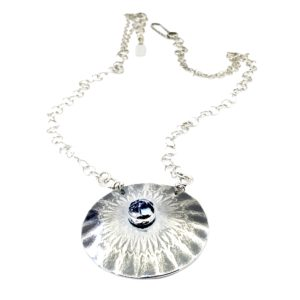 Mandala Flowers Sterling Silver Flower Necklace by Susan Wachler Jewelry