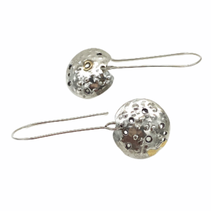 Dappled Discs Silver Earrings by Susan Wachler Jewelry