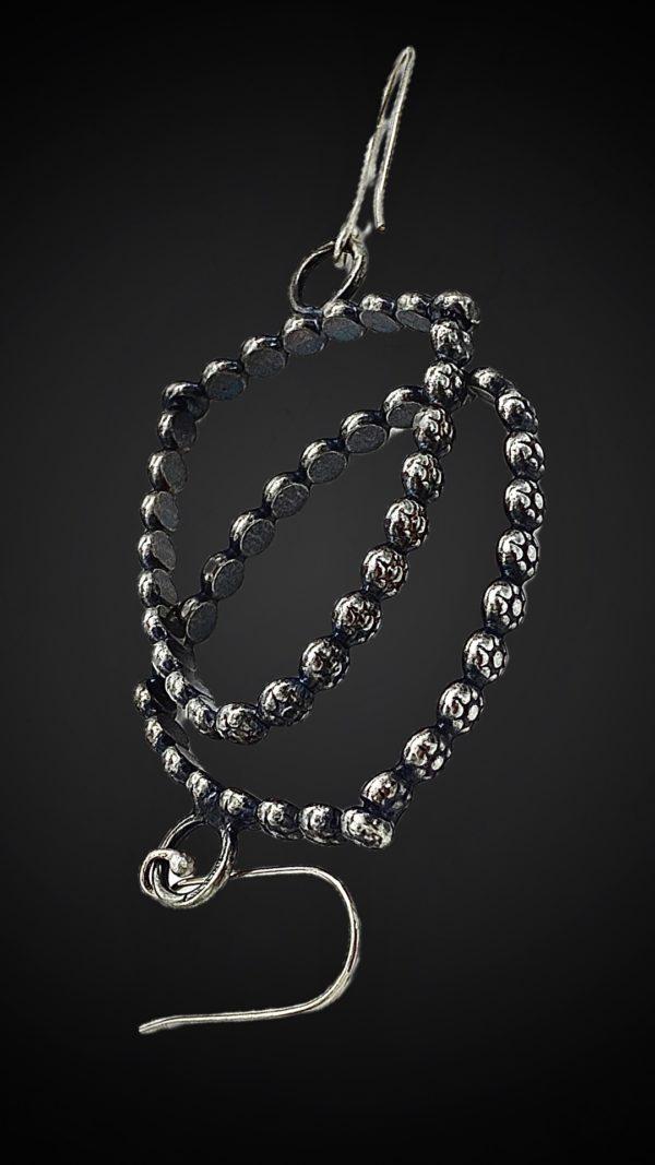 Floral Hoop Earrings by Susan Wachler Jewelry