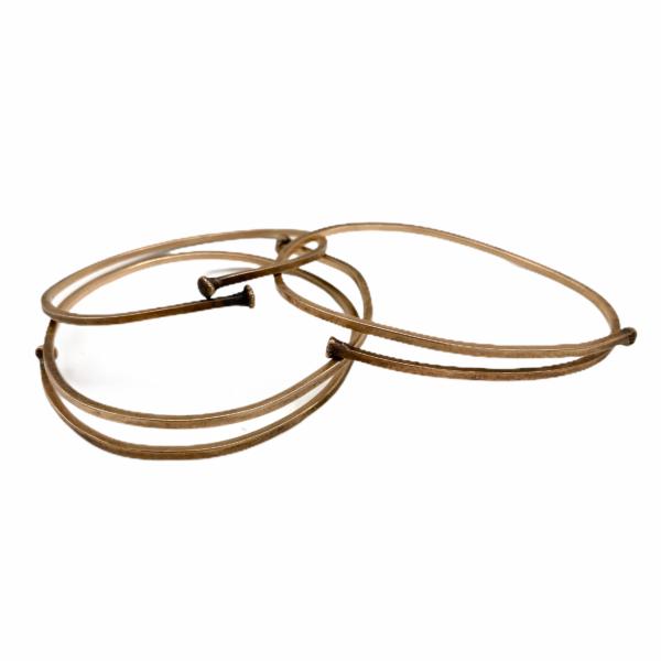 Bronze Flexibility Adjustable Bangle Bracelets by Susan Wachler Jewelry