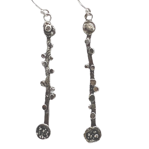 Related Matters Textured Silver Earrings by Susan Wachler Jewelry