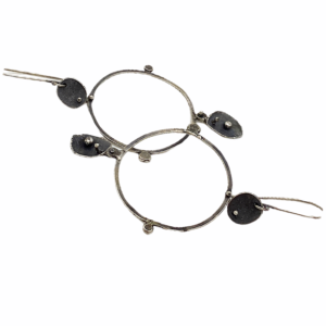 Circular Connections Sterling Silver Post Earrings by Susan Wachler Jewelry