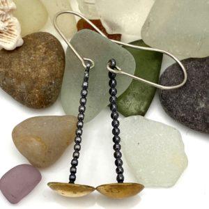 Pendulum Brass Earrings by Susan Wachler Jewelry