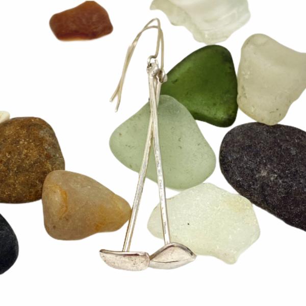 Tender Triangles Silver Earrings by Susan Wachler Jewelry