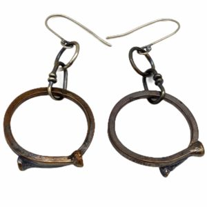 Bronze Hoop Earrings by Susan Wachler Jewelry