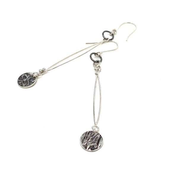 Delicate Connections Silver Earrings by Susan Wachler Jewelry