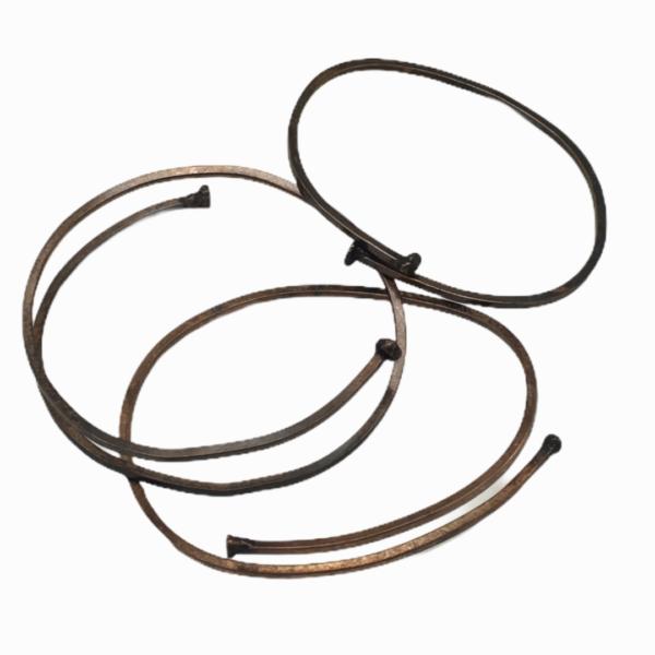 Nailhead Wraps Sterling Silver Wrap Bracelet by Susan Wachler Jewelry