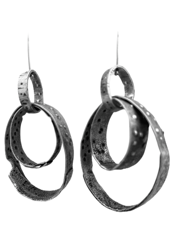 Loop in Loop Sterling Silver Earrings by Susan Wachler Jewelry