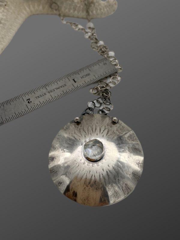 Mandala Flowers Sterling Silver Flower Necklace by Susan Wachler Jewelry