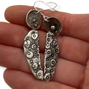 Connection Riveted Sterling Silver Earrings by Susan Wachler Jewelry